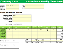 free printable employee attendance tracker
