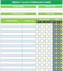 Attendance Sheet Excel Template from excelshe.com