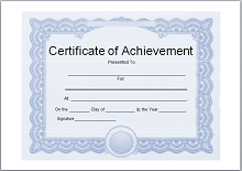achievement template