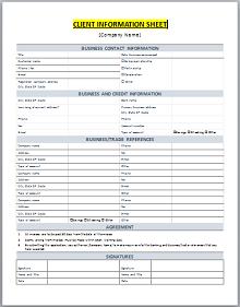 Client information Sheet 03