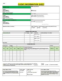 real estate client information form