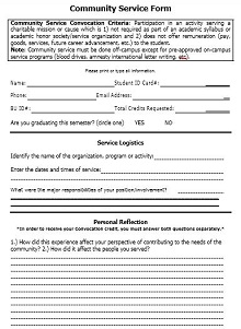 court ordered community service form template