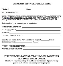 Court Ordered Community Service Completion Letter from excelshe.com