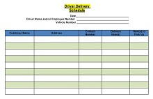 Delivery schedule template 06