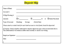 printable bank deposit slip