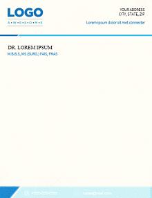 doctor letterheads, doctor letterhead examples