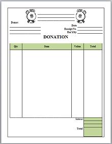 Donation receipt template 08