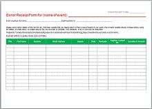 charitable donation receipt template