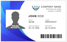 Employee ID template 06