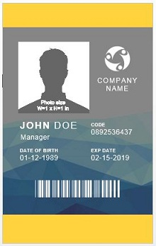 id template free download