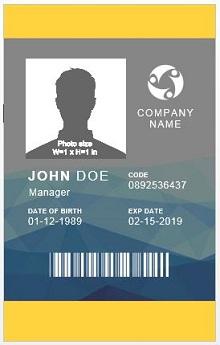 Employee ID template 08