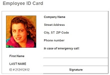 Free download employee id templates