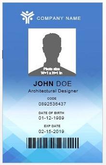 Employee ID template 10