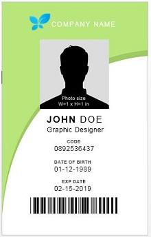 employee id card size