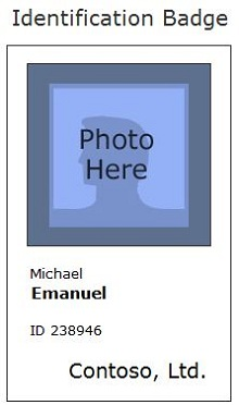Employee ID template 13