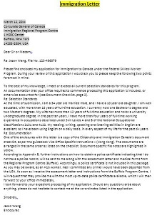 Immigration letter 03