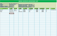 Inventory list template 05