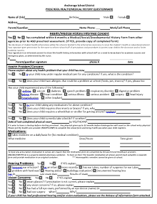 free medical history questionnaire template,free medical forms for doctors office