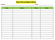 Open house sign in sheet 02