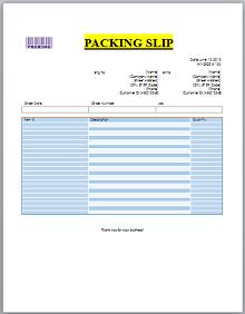 Packing slip template 02