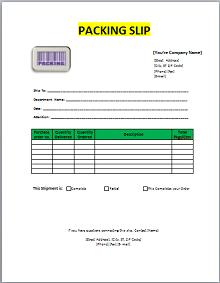 Packing slip template 03