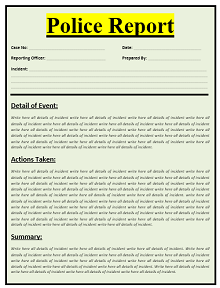 Police report template 03