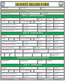 Police report template 15