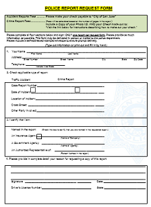 police report template for students