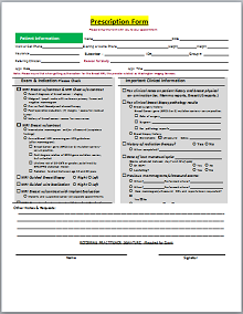 free medical prescription templates