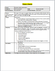 project charter template word