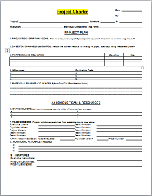 Project Charter Template 05