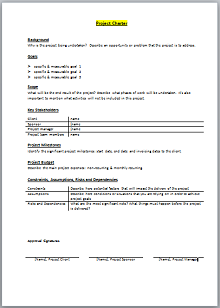 Project Charter Template 06