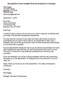 Recognition letter 05