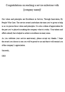 recognition letter example