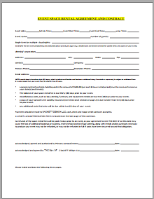 Room rental agreement 09