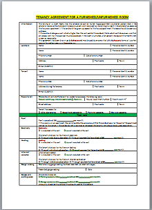 room rental agreement template pdf