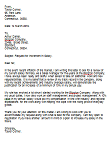 cover letter with salary request