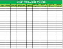 Savings goal tracker template 04