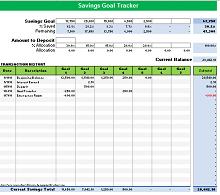savings goal tracker printable
