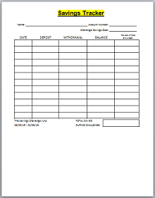 image relating to Goal Tracker Template titled 100% No cost Personal savings Reason Trackers Spreadsheets [Excel+Document