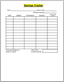 savings goal spreadsheet