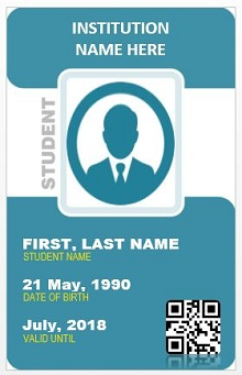 Student id template 01