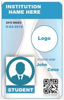 Student id templates