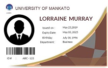 Student id template 04