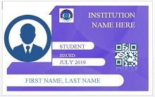 Student id template 06