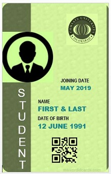 Student id template 09