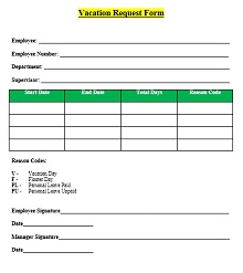 Vacation request form 06