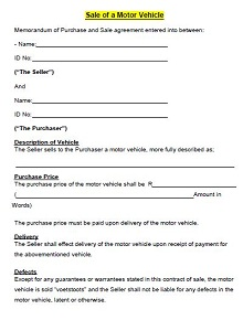 Vehicle purchase agreement 15