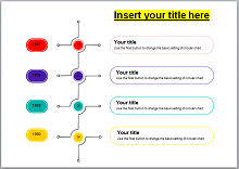 vertical timeline template word