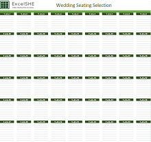 Wedding Seating Selection